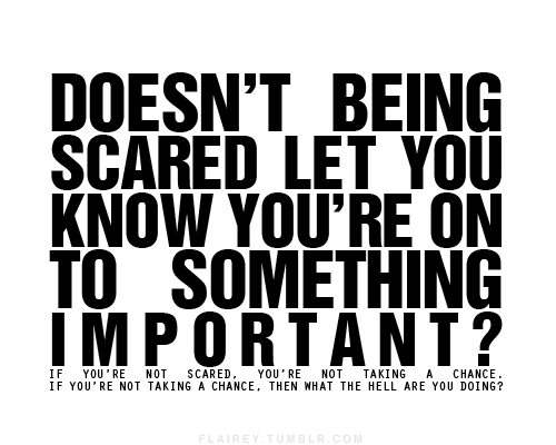 scared blog