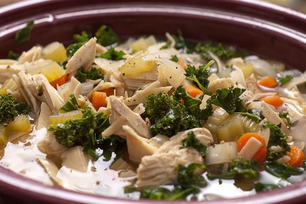 Crockpot Chicken Kale Soup Fit Chic