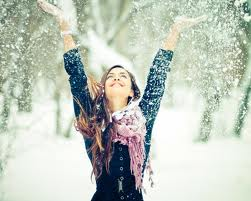 happiness in snow